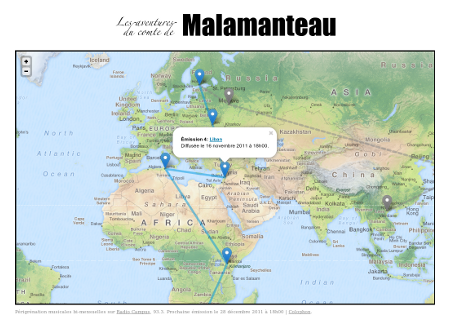 Screenshot of the home-page of malamanteau.fr